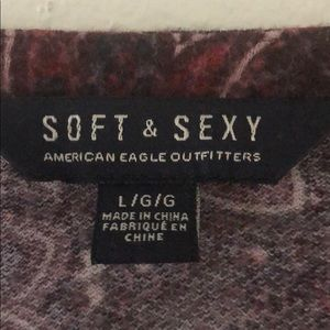 American Eagle Outfitters Dresses - Soft & Sexy Paisley Long Sleeve Maroon Fall Dress
